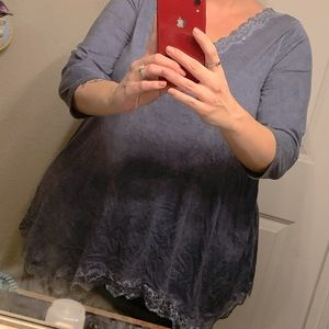 Lane Bryant dusty blue top 14/16